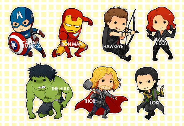 CHIBIS: Avengers por shiftly