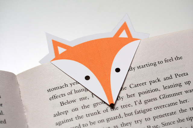 Imprimible,gratis,marcapaginas,zorro,Free,printable,Foxy,Bookmark