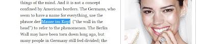 Mauer im Kopf / The Wall in the Head.