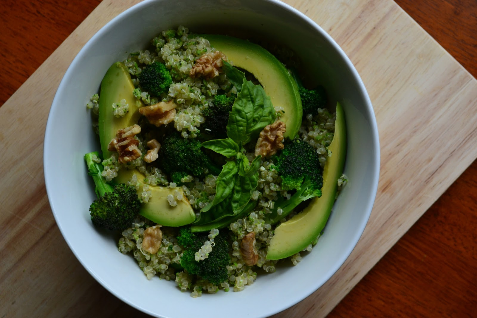 Double Broccoli Quinoa (adapted from this recipe on 101Cookbooks )