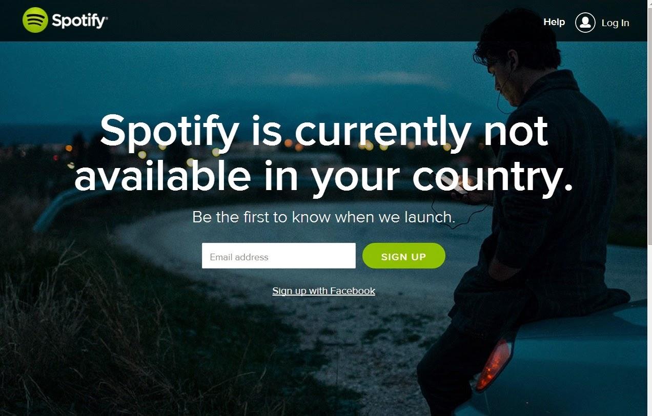 Spotify no disponible