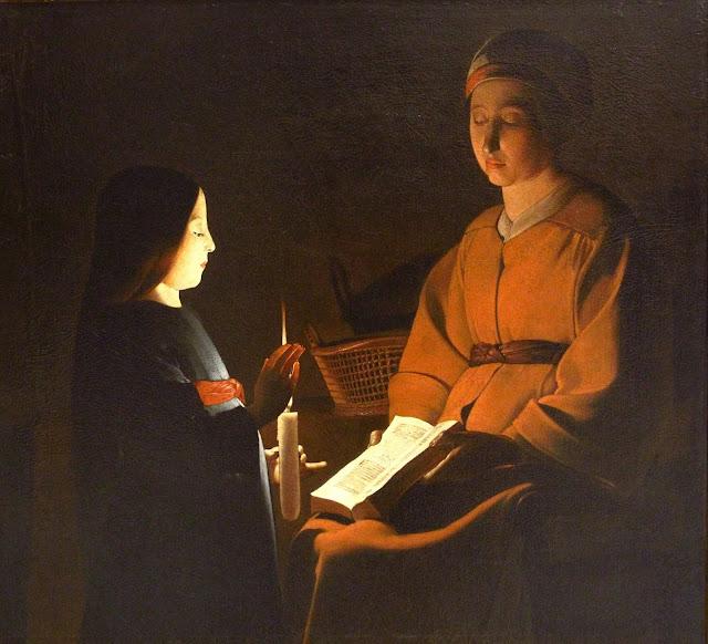 Virgin Mary,Georges de la Tour,baroque art