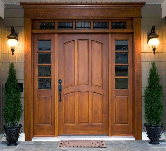 puerta de teca