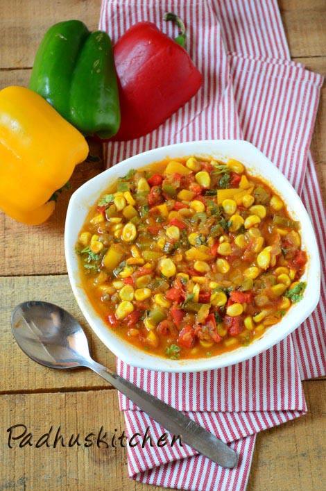 Corn capsicum masala