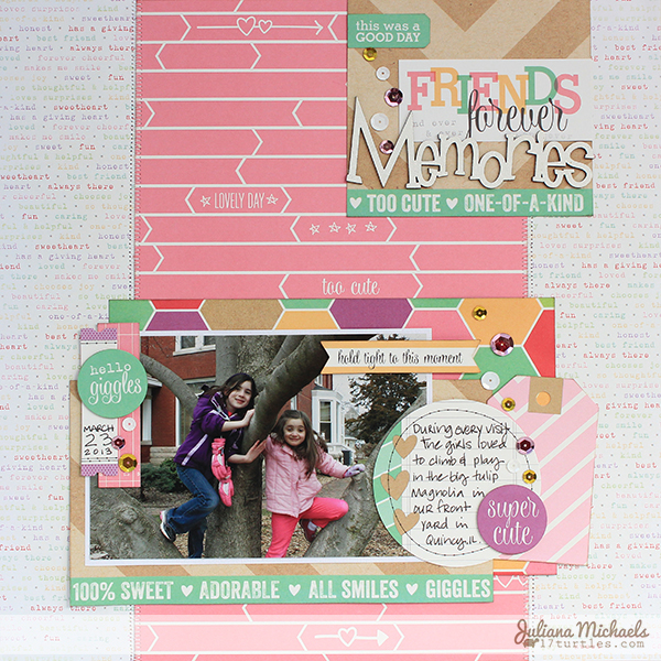 Friends Forever Memories Layout by Juliana Michaels