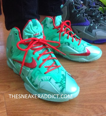 Nike Lebron XI Christmas 11 Sneaker  On Feet Images Lebron 10 Christmas On Feet