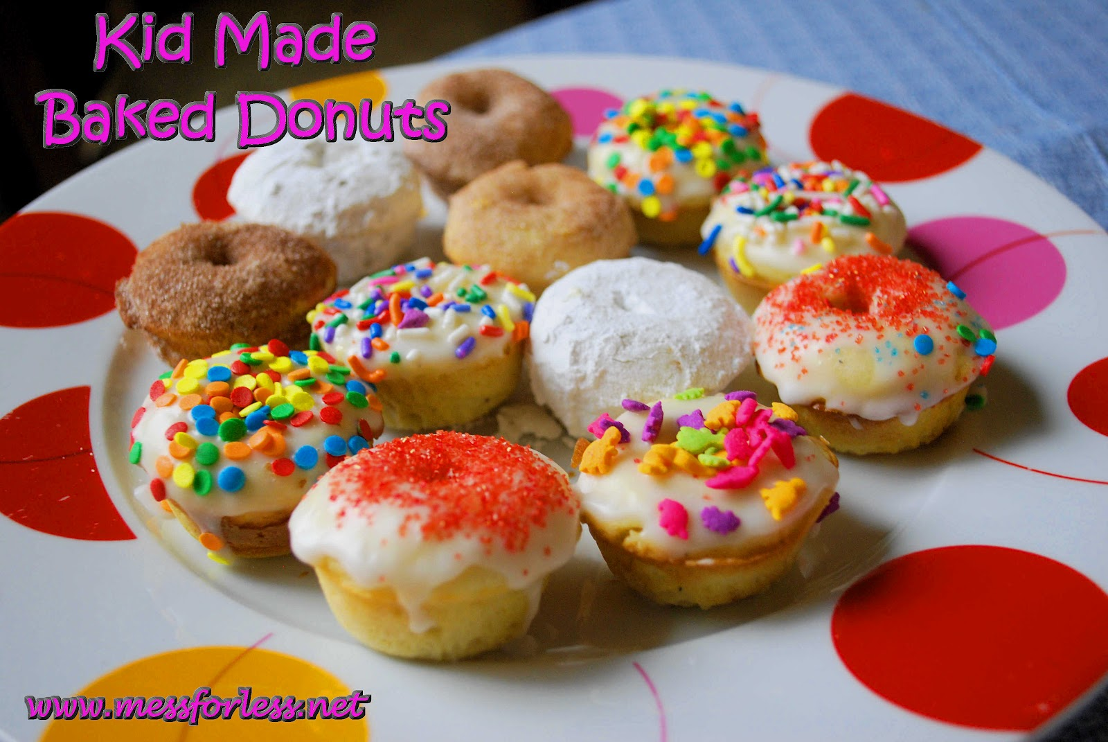 Food Fun Friday: Homemade Mini Baked Donuts | Mess For Less