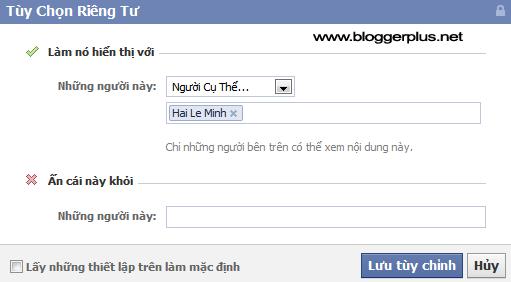 Tùy chọn hiển thị status trong Facebook