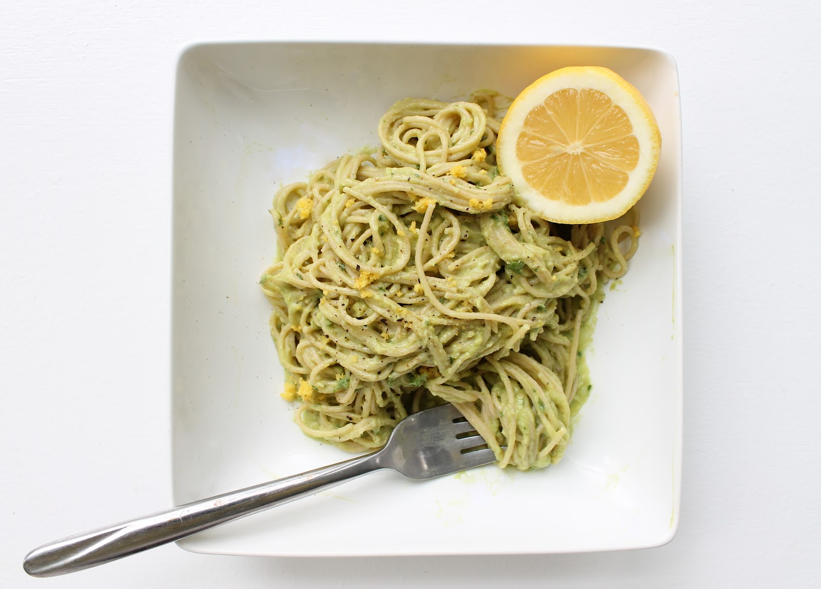 Fresh Avocado Cream Pasta Sauce » That's So Michelle
