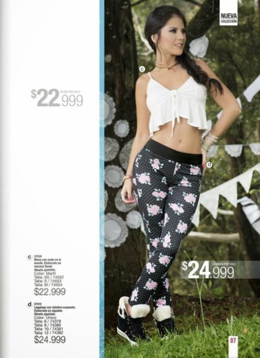 blusa y legging de carmel c-5 2015