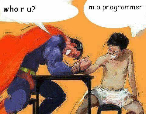 La fuerza del programador no tiene parangón
