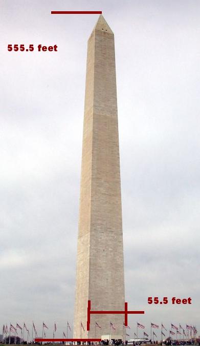 Washington Monument Dimensions