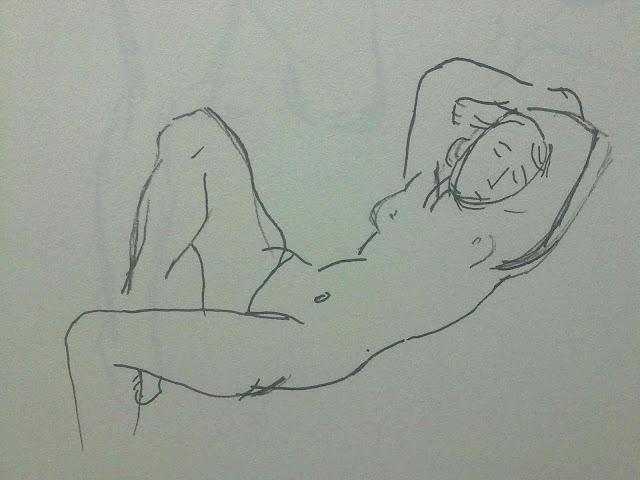 desnudo tumbado de Matisse