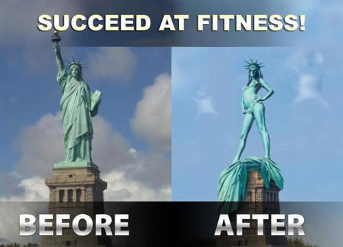 succeed at fitness statue of liberty inspirational