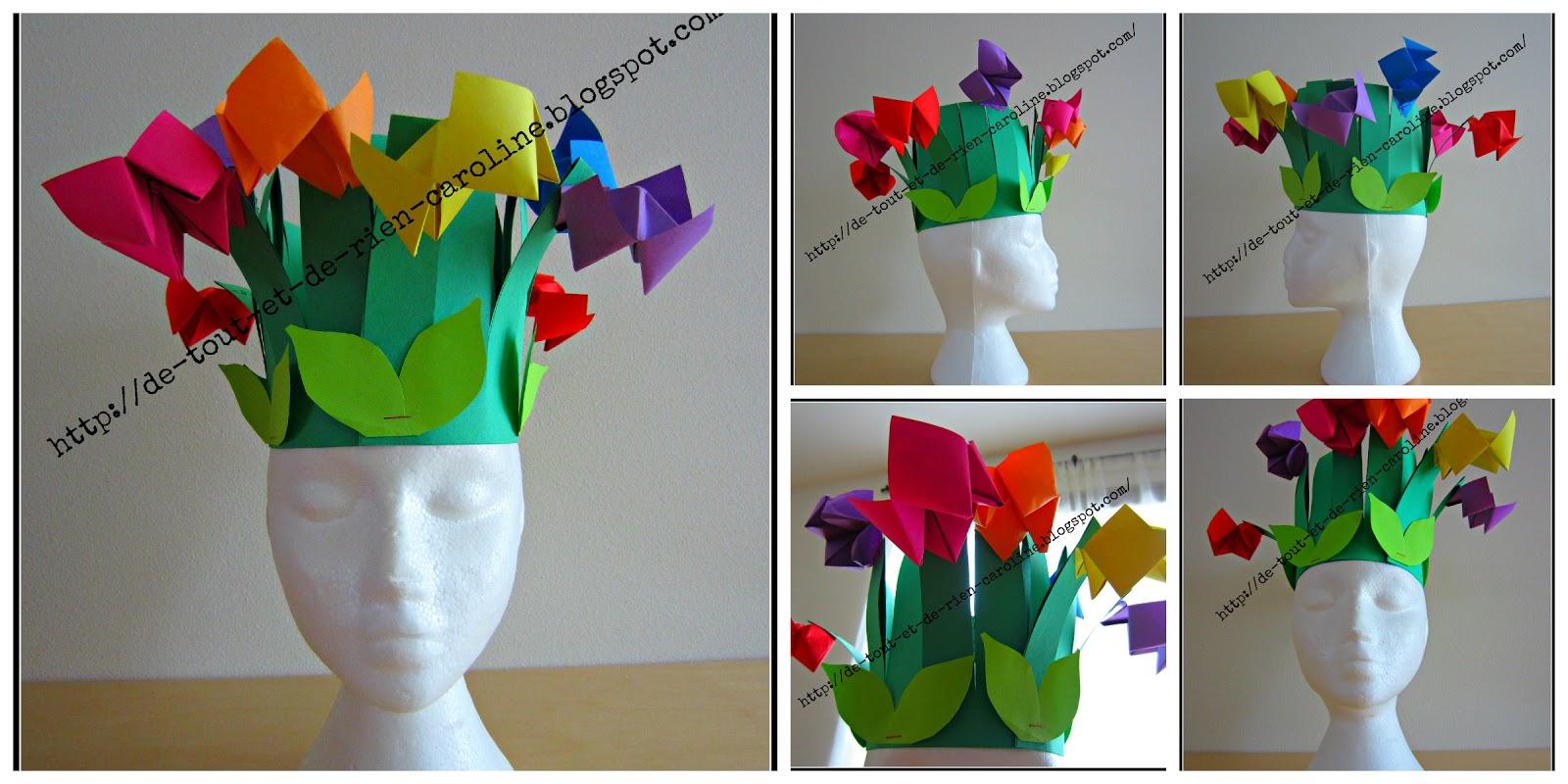 De tout et de rien activit s pour le pr scolaire spring - Fabriquer une couronne en papier ...
