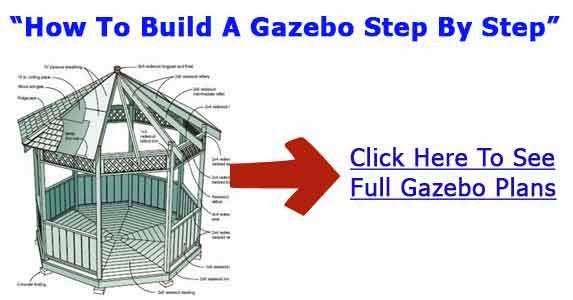 Gazebo building plans methods for gazebo construction for Building a house step by step