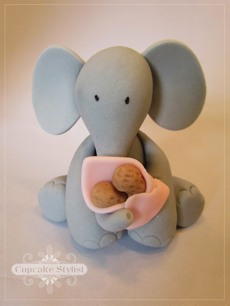elephant baby shower cake topper elephant cake topper by