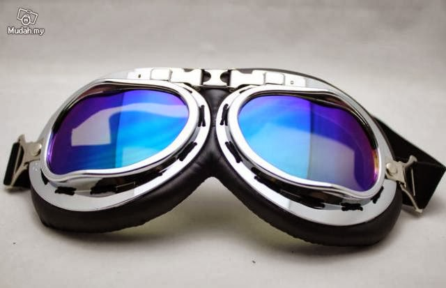 Motorcycle Scooter Goggle Eyewear Colored Lens A-0