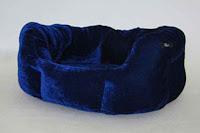 Luxusný pelech - zamatový modrý