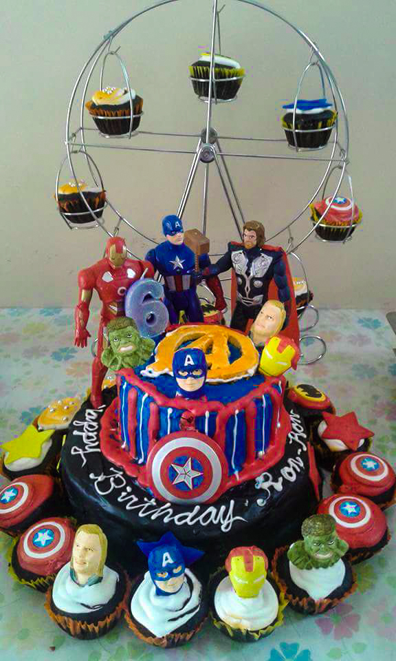 Yk Party Spot Marvel Superheroes Birthday Cake