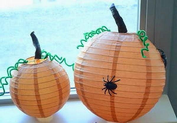 Citrouilles en Papier pour Halloween