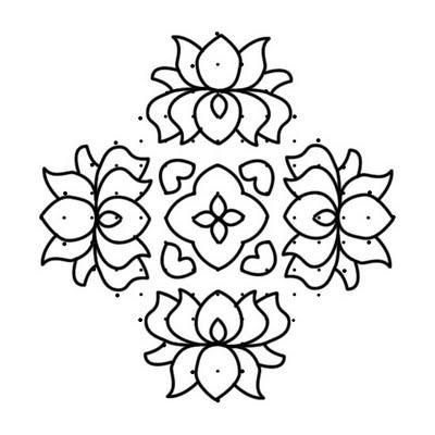 Lotus Rangoli Design Muggu