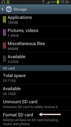 format sd card diandroids