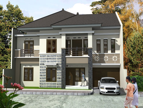 model rumah depan