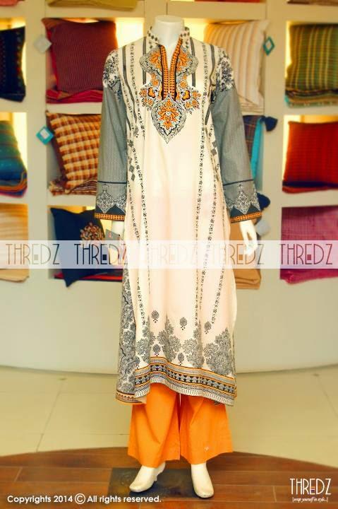 d090ee40b87e Eid-Ul-Azha   Autumn Wear Shalwar Kameez For Girls By Thredz From 2014