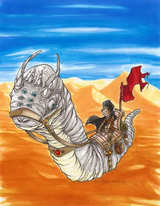Ver voyageur pour la traversée du désert