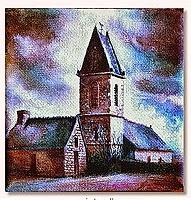 """Landscape Painting by Paint Walk - """"The Old Church at Montaigu la Brisette"""""""