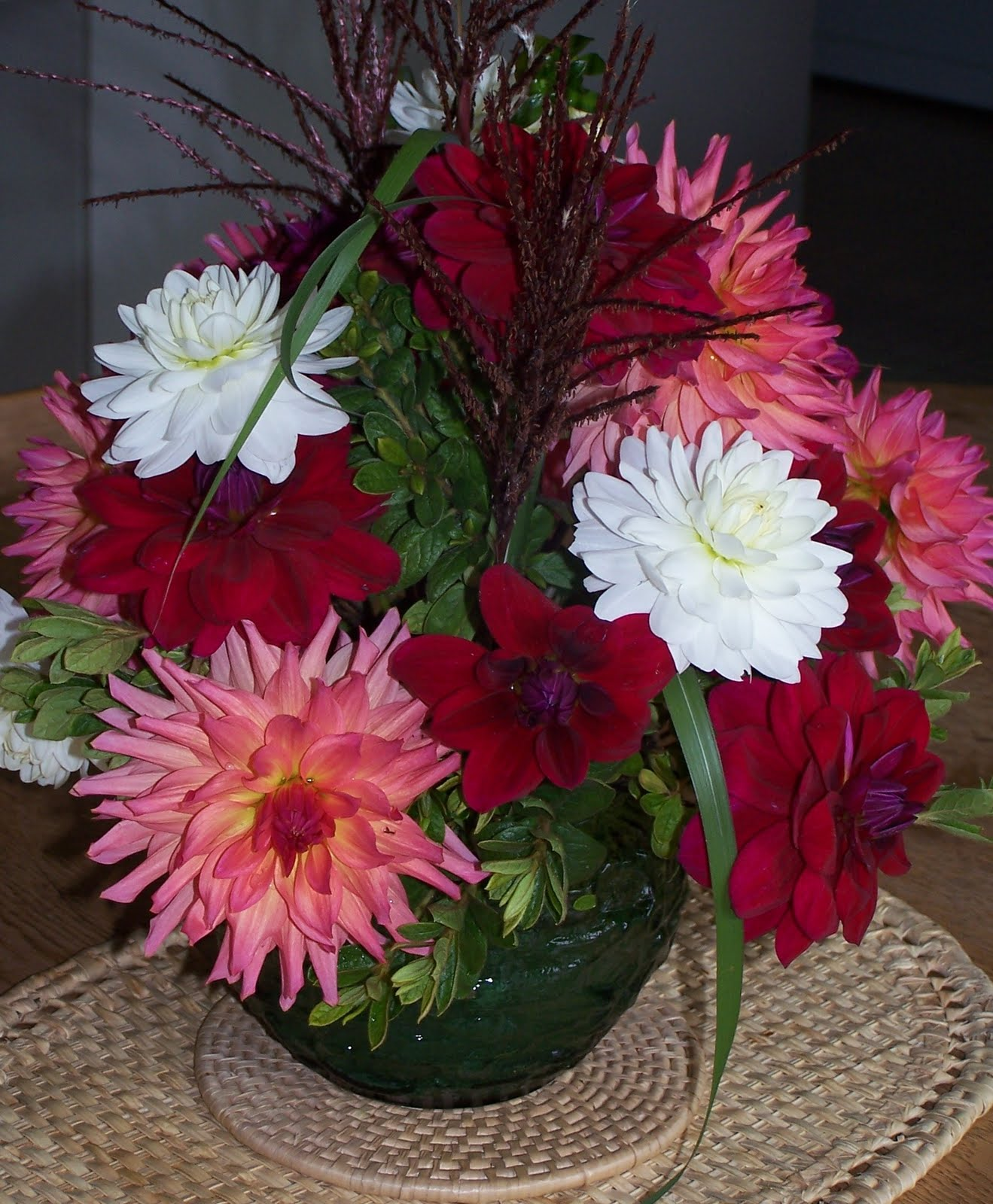 Lynch creek dahlias think ahead to bouquets of dahlias shirley beeliks red bouquet izmirmasajfo