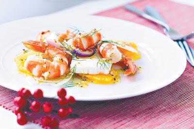 Prawn, fennel and orange salad Recipe