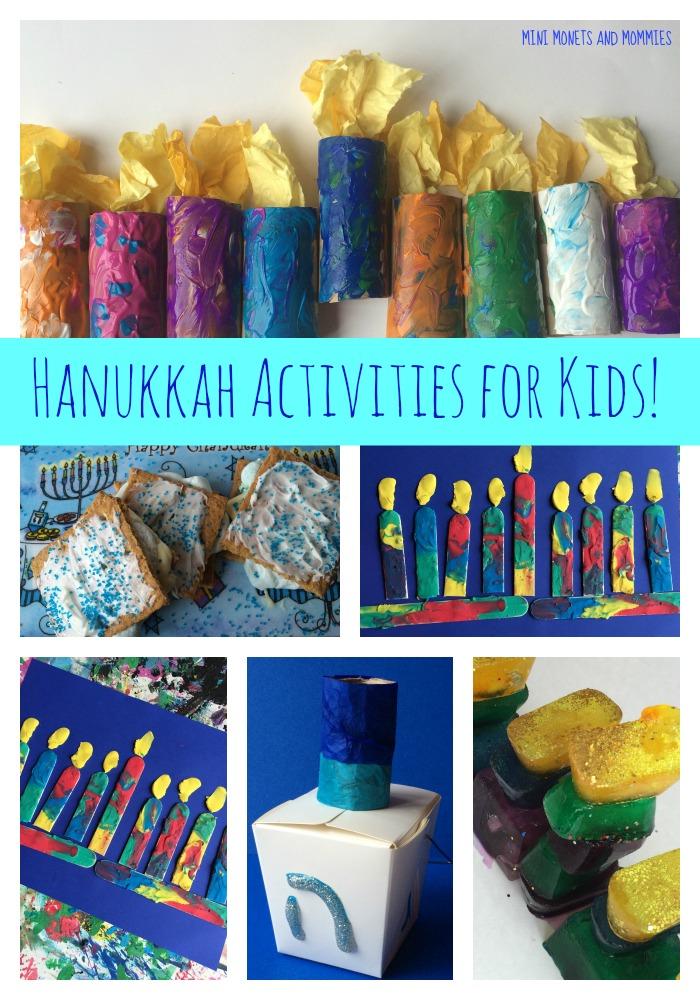 Mini monets and mommies 8 nights of kids 39 hanukkah activities for Hanukkah crafts for preschoolers