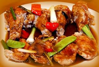 Alas de pollo con salsa de ostión