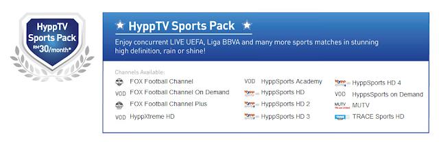 HyppTV Sports Pack - RM 30 sebulan