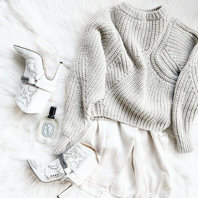 white fashion instagram