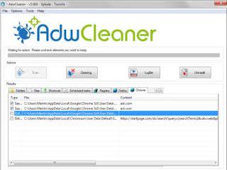 scansione adware adwcleaner