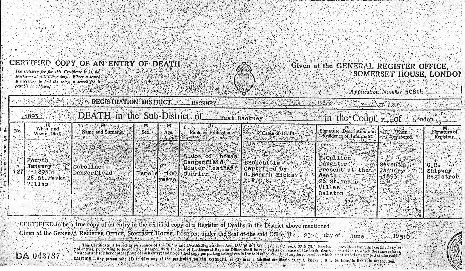 Thomas dangerfield descendants dangerfield death certificates caroline buckwell dangerfield death certificate aiddatafo Choice Image