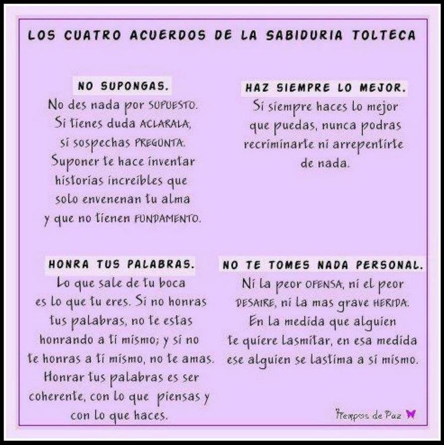 LOS CUATRO ACUERDOS - ::NuevaGaia