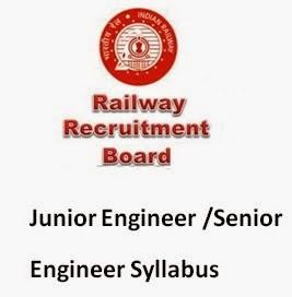RRB Junior Engineer/ Senior Engineer Syllabus