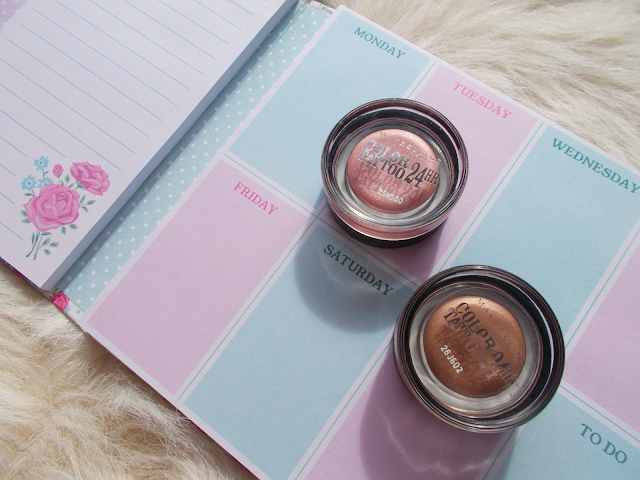 August Favourites including the Maybelline Color Tattoo eyeshadows!