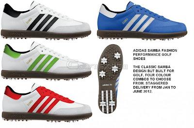 Adidas Samba Golf Shoes Red