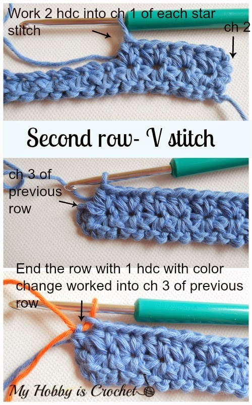 My Hobby Is Crochet Crochet Star Stitch Variation Star Stitch
