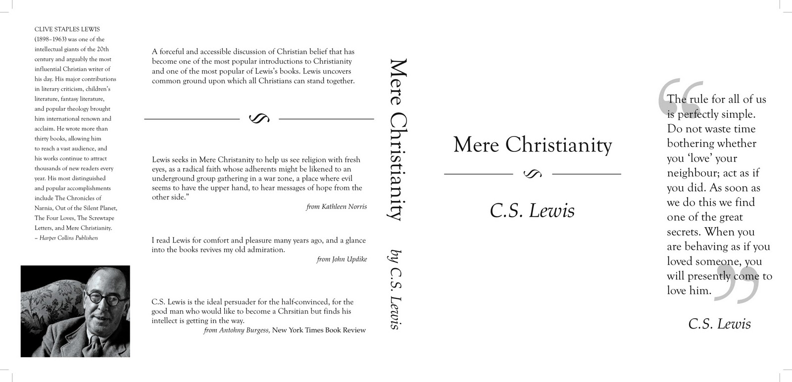 the moral issues and concepts in mere christianity a book by cs lewis And a lifetime of concern with logical issues, on the one side, and moral concept of mere christianity: lewis knew how book abolition of man, lewis speaks.