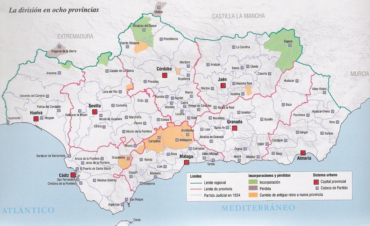 Mapa De Andalucia Con Sus Pueblos  My blog