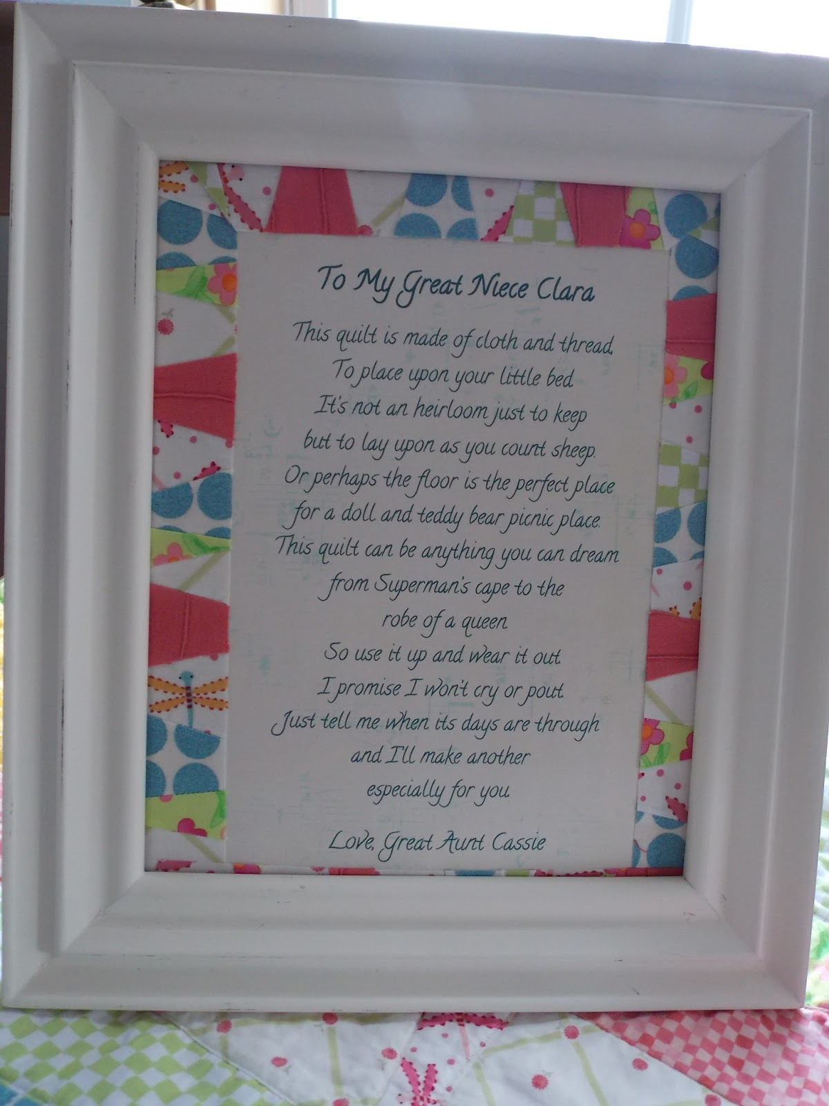 Once Upon A Rose Garden: A Quilt & Poem for Baby Clara : baby quilt poem - Adamdwight.com