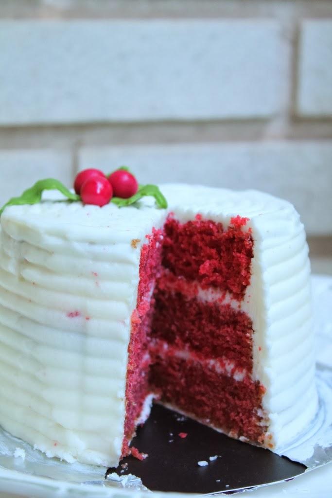 El blog de ana y ancor mini tarta de terciopelo rojo - Tarta red velvet alma obregon ...
