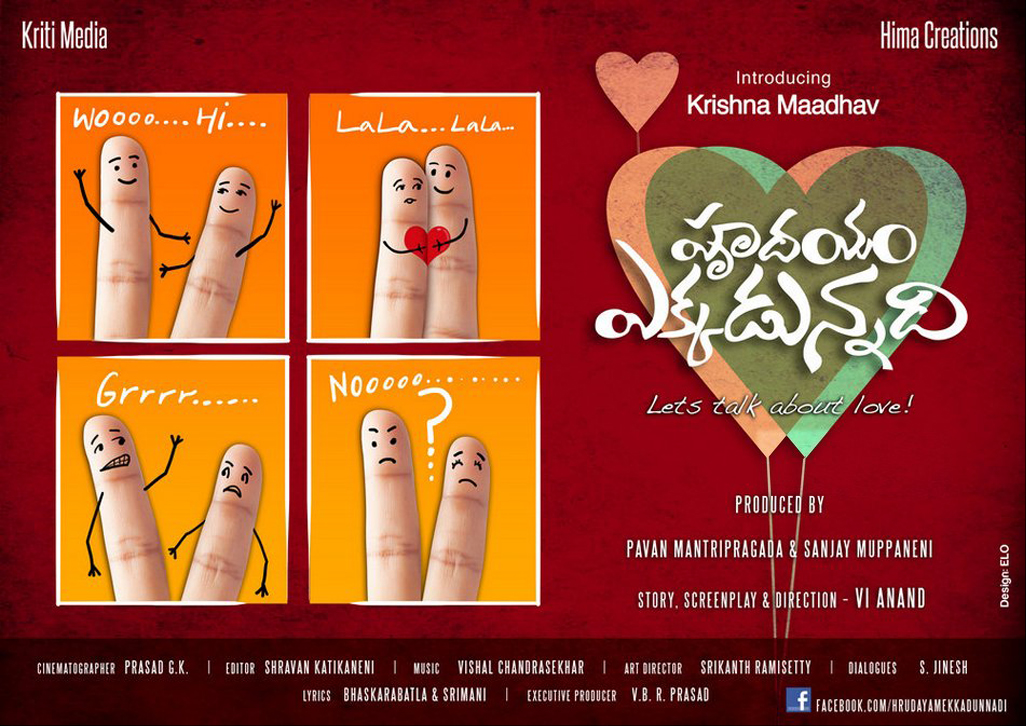 Hrudayam Ekkadunnadi First Look Posters - TollyCinema365