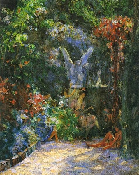 pintura de jardins